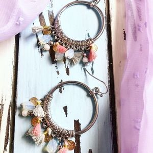 ALQUIMIA SILVER TASSELS AND HOOPS 🆕🆕